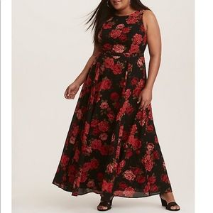 TORRID Floral Georgette Maxi Dress. Size 12.